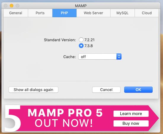 MAMPのPHPの設定