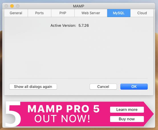 MAMPのMySQLの設定